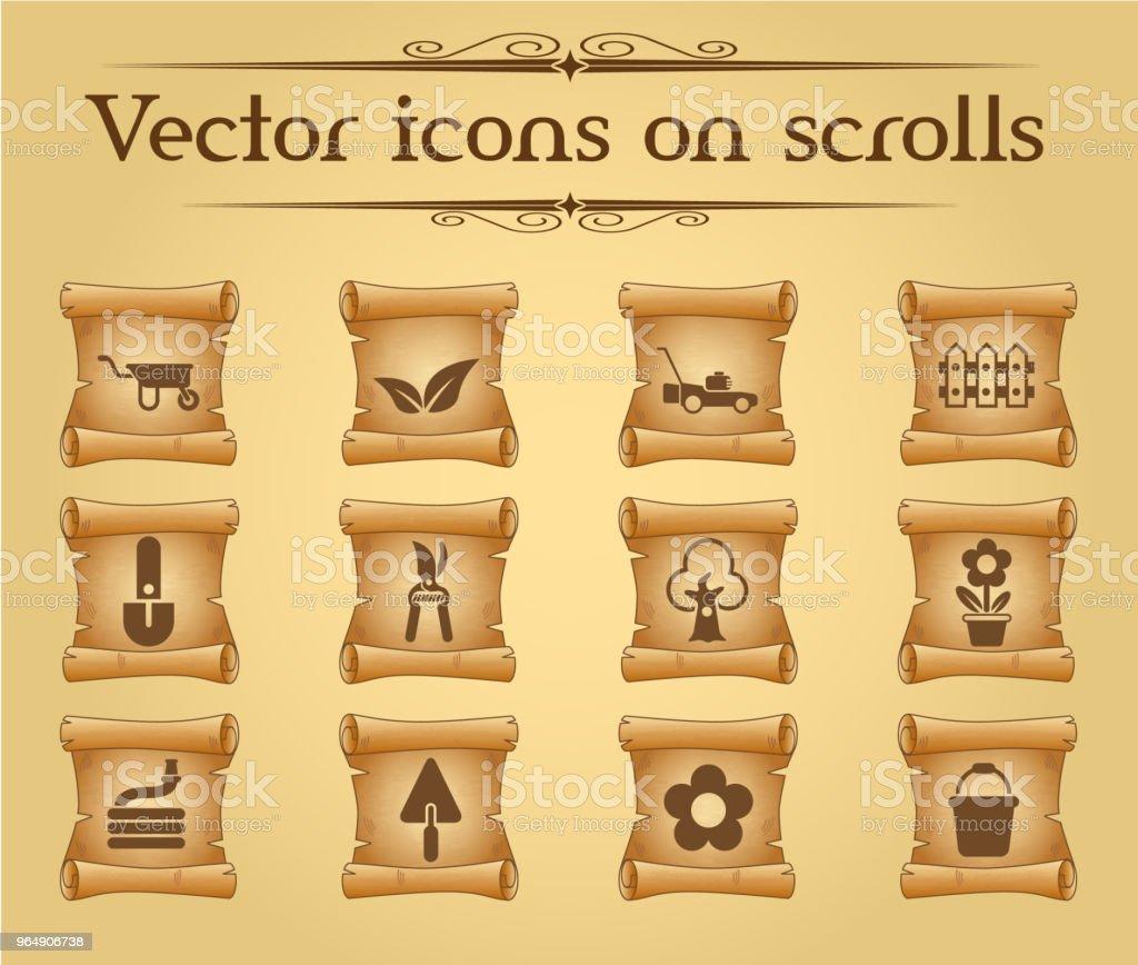 landscape design icon set royalty-free landscape design icon set stock vector art & more images of antique