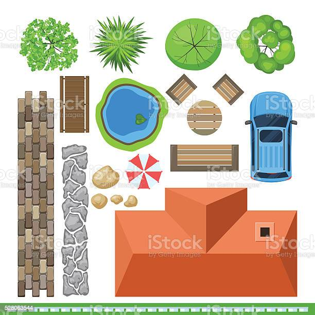 Landscape elements for project design top view vector id528063544?b=1&k=6&m=528063544&s=612x612&h=eiioxe dqd4mjsys3apnbwip 8w9l7rmpjz pn39qck=