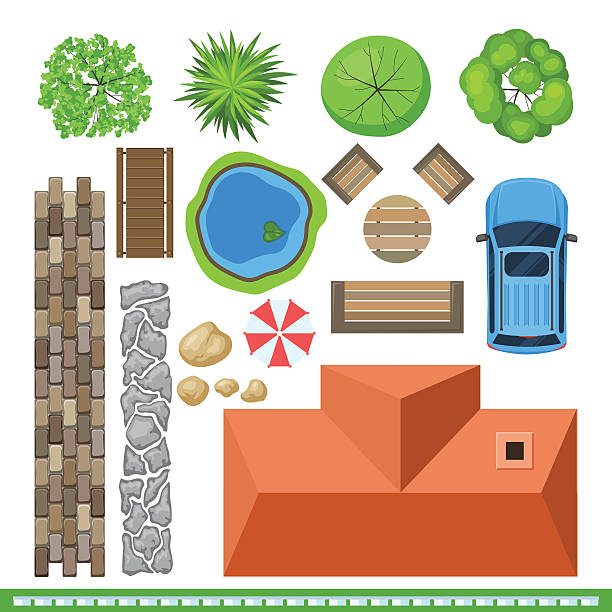 Landscape Illustration Vector Free: Best Grass Top View Illustrations, Royalty-Free Vector