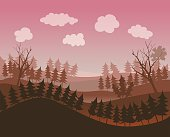 Landscape Environment Vector Illustration.