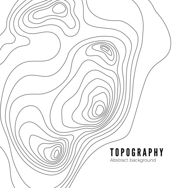 Landscape Geodesy Topography Map Line Texture. Vector Background Pattern Landscape Geodesy Topography Map Line Texture. Vector Background Pattern topography stock illustrations