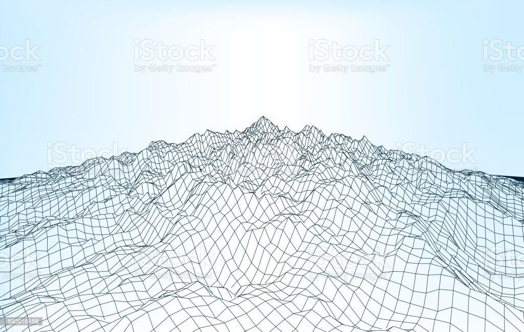 landscape geometry 012 A vector art illustration