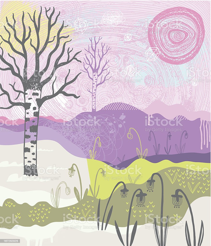 Landscape in spring royalty-free landscape in spring stock vector art & more images of art