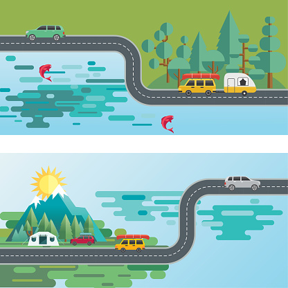 Landscape Infographic - People Travelling To Their vacation Destinations