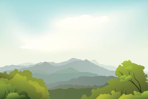 Landscape of beauty nature Background