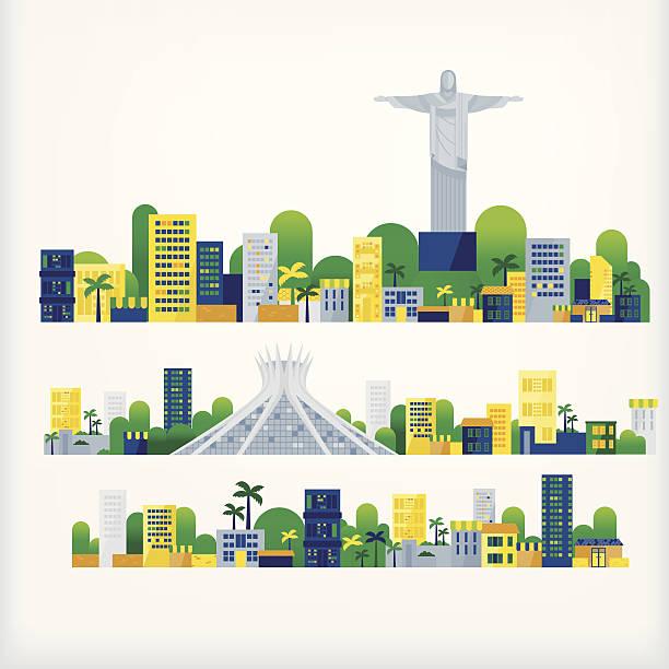 ilustrações, clipart, desenhos animados e ícones de paisagem do brasil - brazil