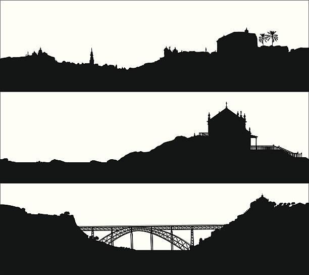 ilustrações de stock, clip art, desenhos animados e ícones de paisagem do porto. portugal - douro