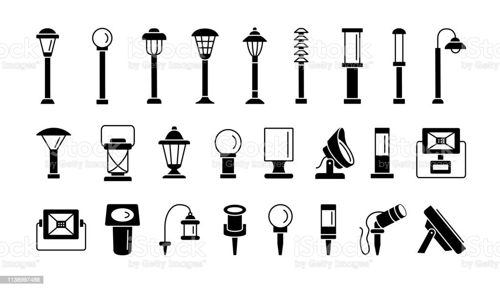 landscape path lights for patio deck yard outdoor garden lighting vector flat icon set isolated objects stock illustration download image now istock landscape path lights for patio deck yard outdoor garden lighting vector flat icon set isolated objects stock illustration download image now istock