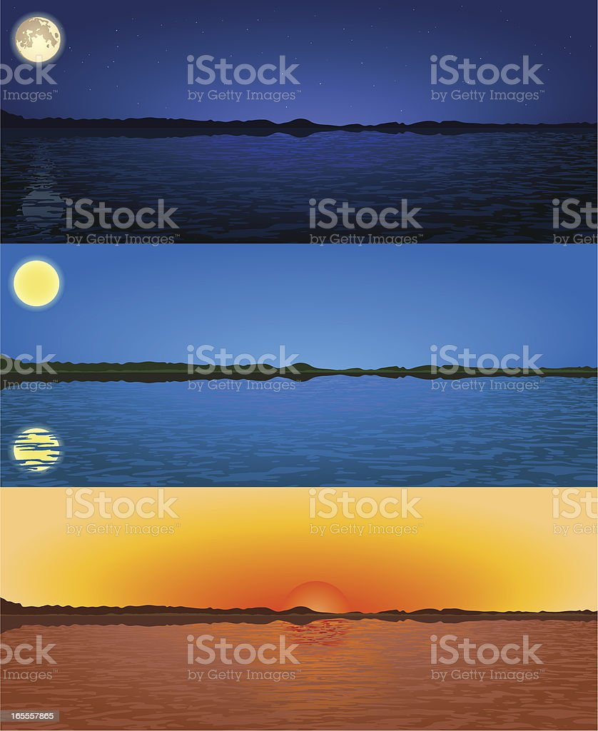 Landscape scenes royalty-free stock vector art