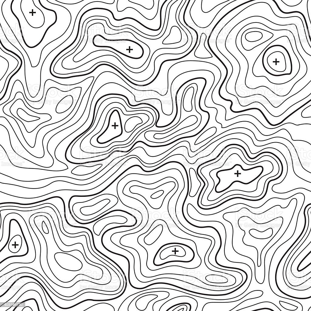 Landscape Topographical Map Line Background Vector Stock Vector - Topographical map