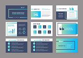 istock Landscape Vector Business Powerpoint / Keynote Presentation Guide Template Brochure 1216054121