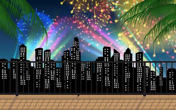 stockillustraties, clipart, cartoons en iconen met landschap - twilight