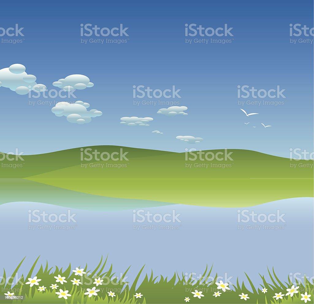 Paisaje ilustración de paisaje y más banco de imágenes de aire libre libre de derechos