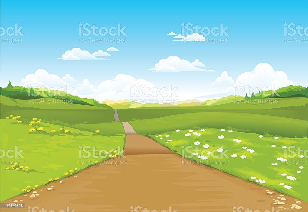 Landscape royalty-free stock vector art