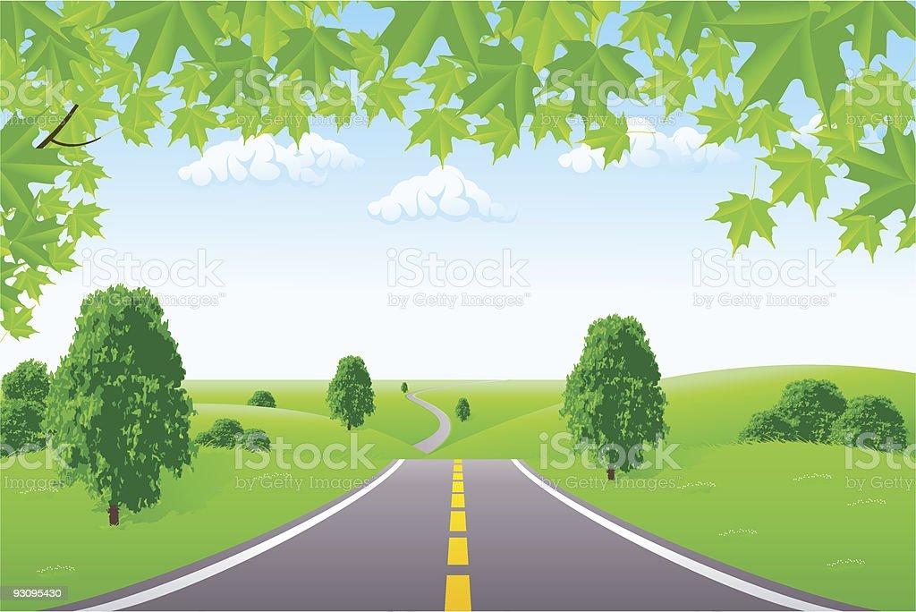 Landscape royalty-free landscape stock vector art & more images of branch - plant part