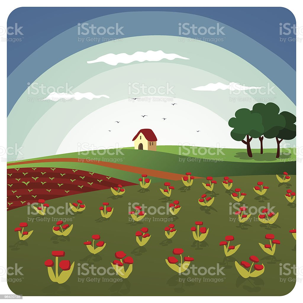 Landscape royalty-free landscape stock vector art & more images of agriculture