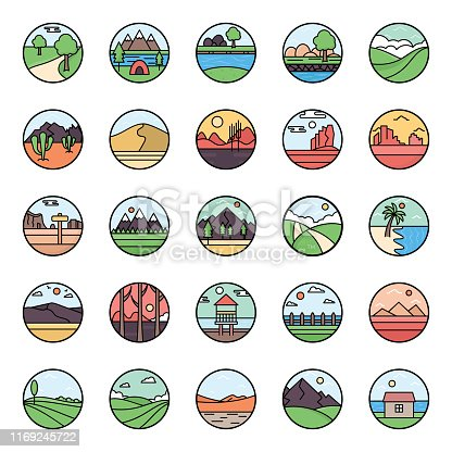 We are presenting a landscapes views pack to fresh up your project. Collection of editable landscape vectors are designed to meet your requirements. Hence, don't forget to download these vectors for an amazing project