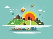 Landscape wih Train