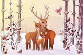 vector winter, christmas, xmas noel wonderland art