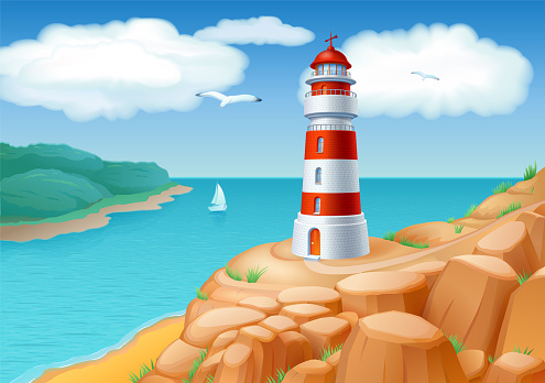 Landscape with a Lighthouse