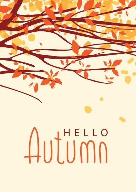 木の枝を秋の紅葉風景します。 - 秋点のイラスト素材/クリップアート素材/マンガ素材/アイコン素材
