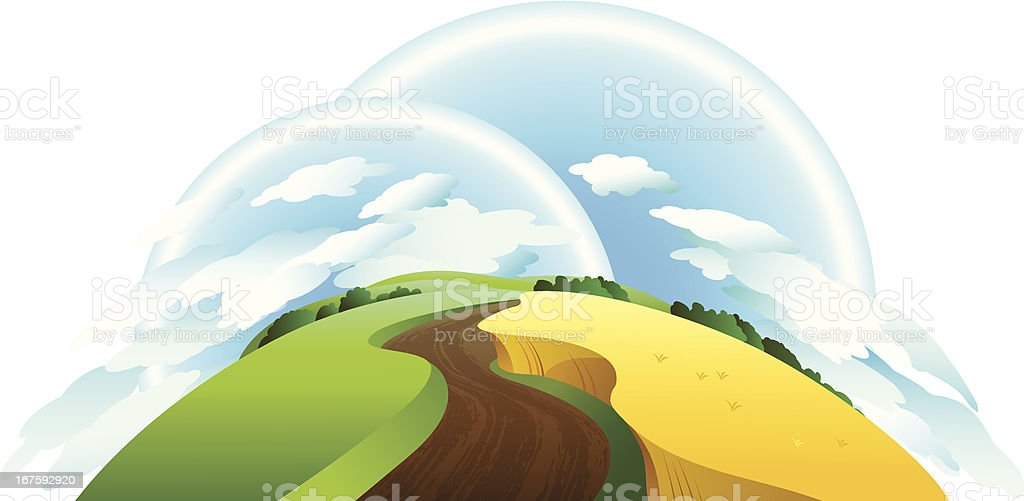 Landscape with clouds royalty-free stock vector art