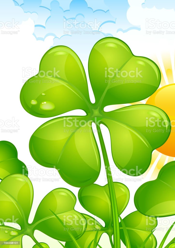 Landscape with clover royalty-free stock vector art