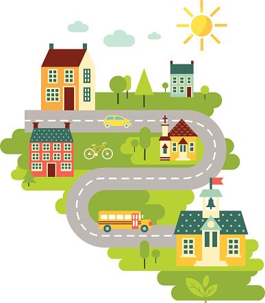 Landscape with education concept