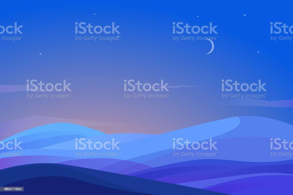 Paysage avec champ de vision de nuit - clipart vectoriel de Abstrait libre de droits