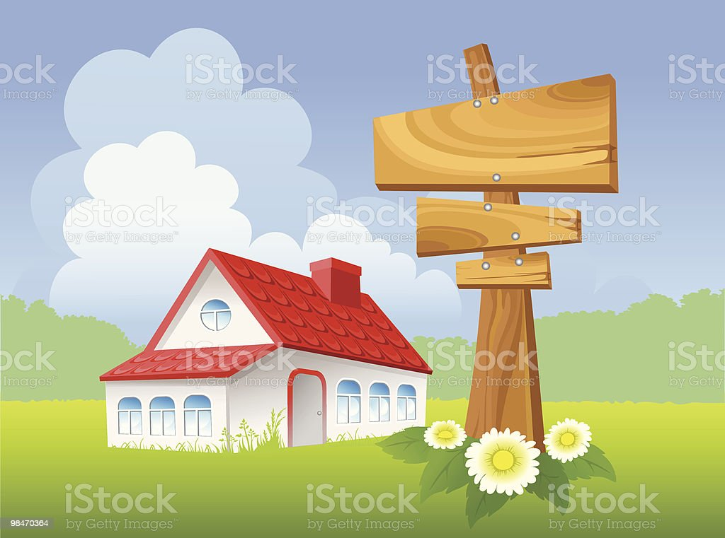 Landscape with house royalty-free landscape with house stock vector art & more images of architecture