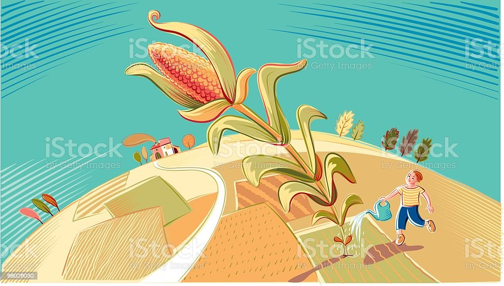 landscape with maize royalty-free landscape with maize stock vector art & more images of adult