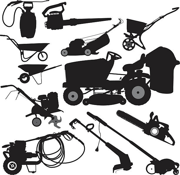 Yard Tools Clip Art : Royalty free leaf blower clip art vector images