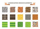 Landscaping garden design elements