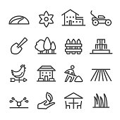 Landscaping Icons - Line Series