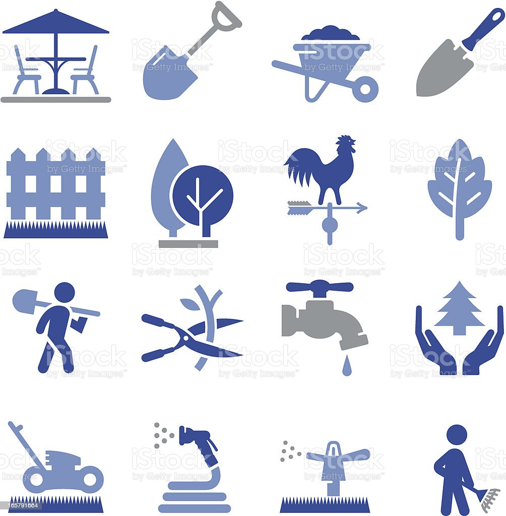 Landscaping Icons - Pro Series vector art illustration