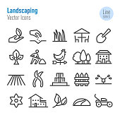 Landscaping Icons - Vector Line Series