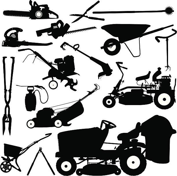 Lawn Care Clip Art Black And White