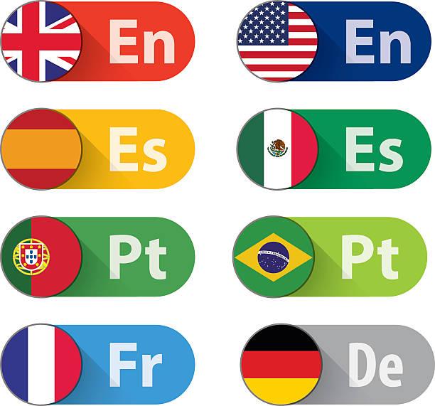 język przyciski - kultura portugalska stock illustrations