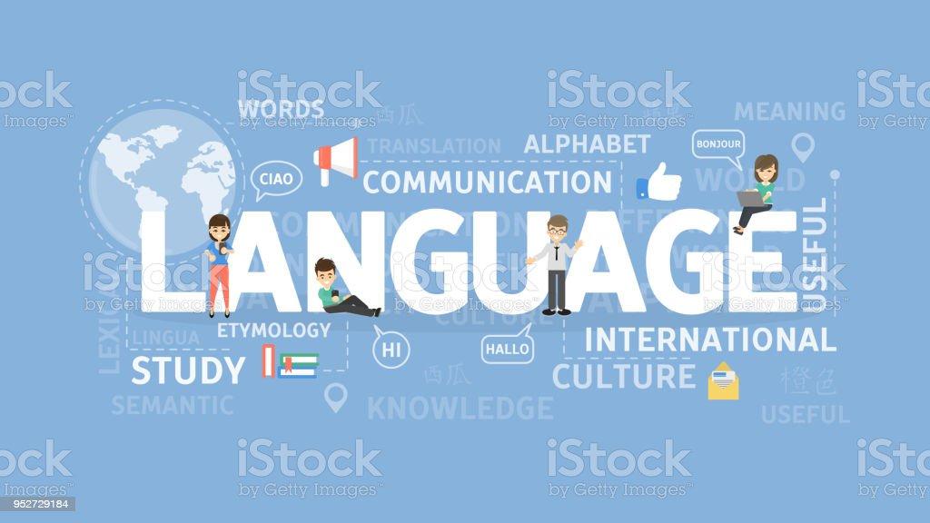 言語の図の概念。 ベクターアートイラスト