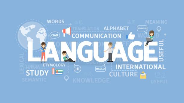 言語の図の概念。 - 語学の授業点のイラスト素材/クリップアート素材/マンガ素材/アイコン素材