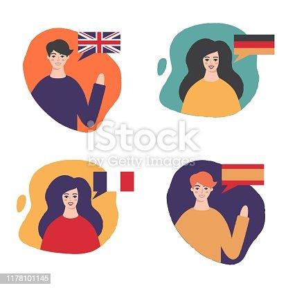 Language learning: English, German, French, Spanish
