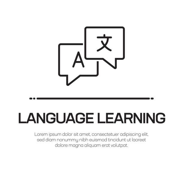 언어 학습 벡터 라인 아이콘-간단한 얇은 라인 아이콘, 프리미엄 품질 디자인 요소 - 잉글랜드 문화 stock illustrations