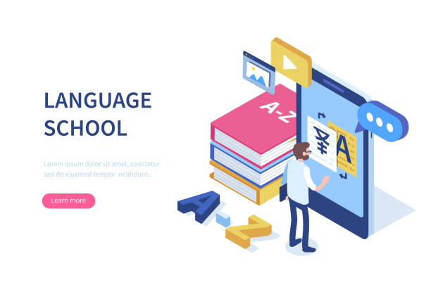 language school - language class stock illustrations