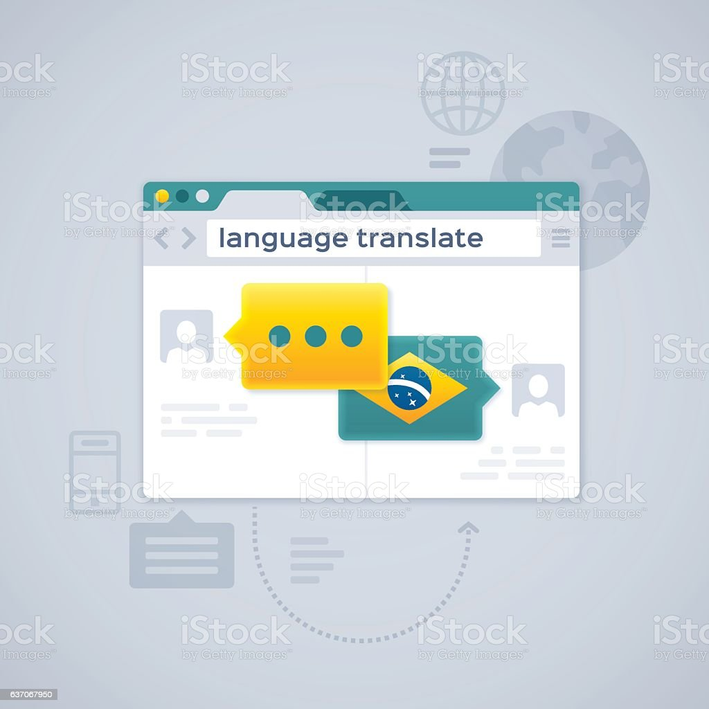 Language Translate or Translation vector art illustration