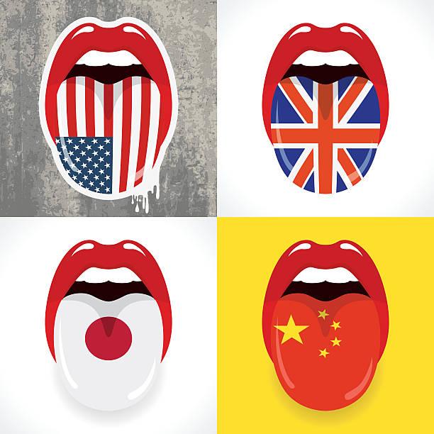 ilustraciones, imágenes clip art, dibujos animados e iconos de stock de concepto de idiomas - bandera británica