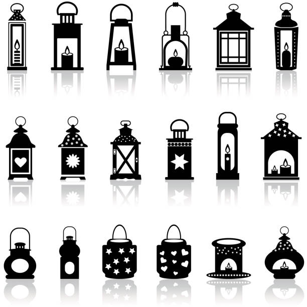 Lantern and lighting vector illustration. Lantern and lighting vector symbol stock illustration. lantern stock illustrations
