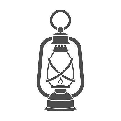 Lantern icon in black style isolated on white background. Mine