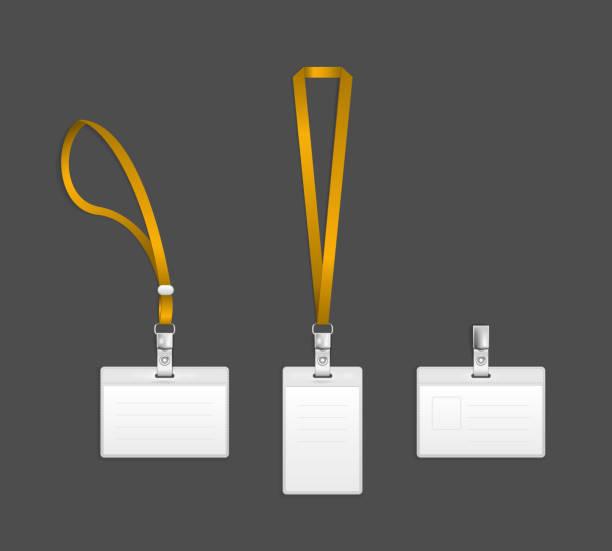 Lanyard, Namensschild Halter end-Logo-Vorlagen – Vektorgrafik