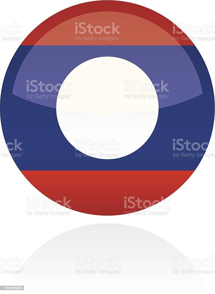 Laos, Asia Flag Button royalty-free stock vector art