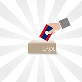 Laos Elections Vote Box Vector Work